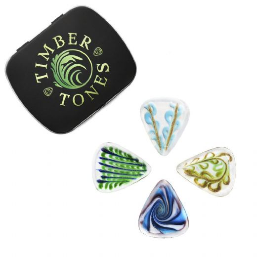 Glass Tones Mixed Tin of 4 Guitar Picks